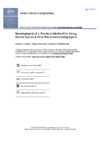 Development of a Practical Method for Using Ozone Gas as a Virus Decontaminating Agent